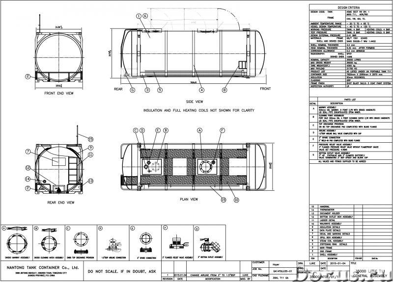 Танк-контейнер модель Т11 SWAP объём 35000 литров, для перевозки жидкостей, новый - Промышленное обо..., фото 9